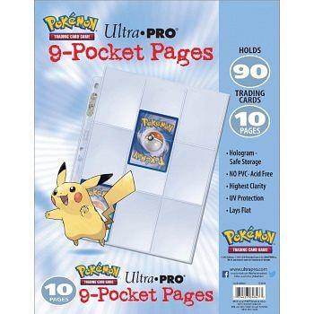 10 složek pro karetní album Pokémon s kroužkovou vazbou (Ultra Pro 9-Pocket pages)