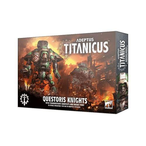 Adeptus Titanicus: Questoris Knights with Thunderstrike Gauntlets & Rocket Pods