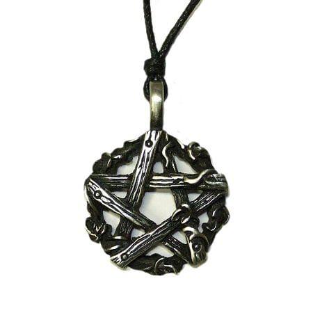 Fantasyobchod Amulet Dřevěný pentagram FC30080X