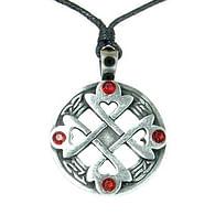 Amulet Keltský srdcový kříž