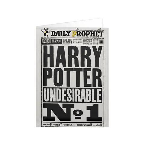 Fantasyobchod Blahopřání Harry Potter - Daily Prophet Undesirable No.1