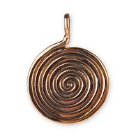 Bronzový amulet Spirála