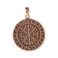 Bronzový amulet Vikingský kompas