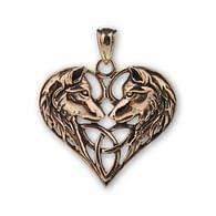 Bronzový přívěsek Keltští vlci