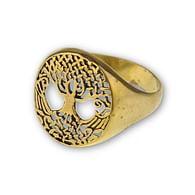 Bronzový prsten Strom života