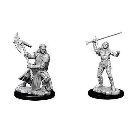 D&D Nolzur's Marvelous Miniatures: Female Half Orc Fighter