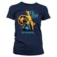 Dámské tričko Captain Marvel - Fly High