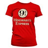Dámské tričko Harry Potter - Hogwarts Express, červené