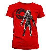 Dámské tričko Predátor - červené