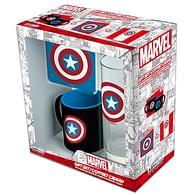 Dárková sada Captain America (s podtáckem)