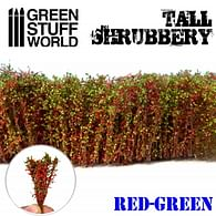 Dekorace Green Stuff World - Tall Shrubbery: Red Green