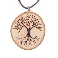 Dřevěný přívěsek Strom