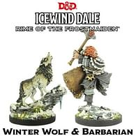 Dungeons and Dragons Collectors Series: Winter Wolf & Barbarian (2 figurky)