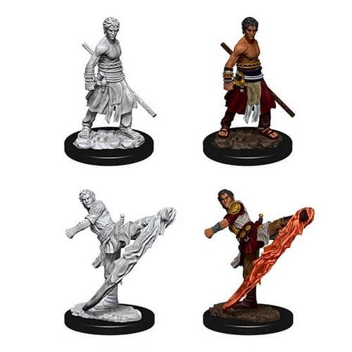 Dungeons & Dragons: Nolzur s Miniatures - Male Half-Elf Monk