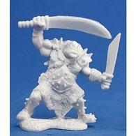 Figurka orčí stopař se dvěma zbraněmi