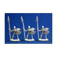 Figurky kostlivých kopiníků (3 ks)
