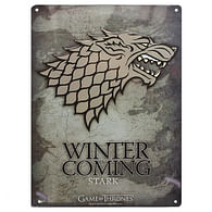 Game of Thrones - dekorační cedule Stark