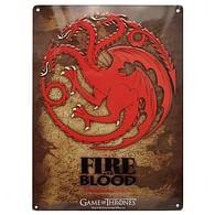 Game of Thrones - dekorační cedule Targaryen