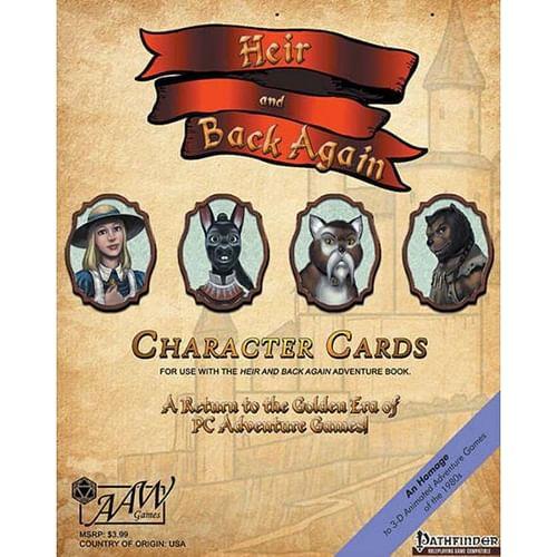 Heir & Back Again Pathfinder RPG Character Cards