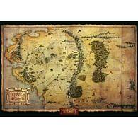 Hobit - Mapa Středozemě