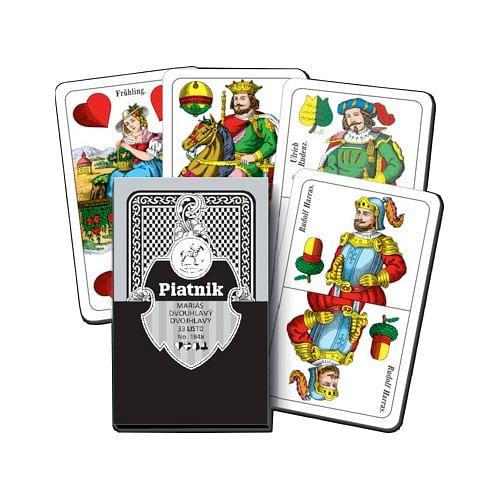 Hrací karty Mariáš dvouhlavé