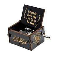 Hrací skříňka Harry Potter - černá