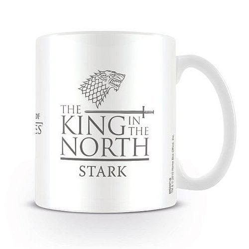 Pyramid hrnek Hra o Trůny Game of Thrones Stark King in the North bílý 330 ml