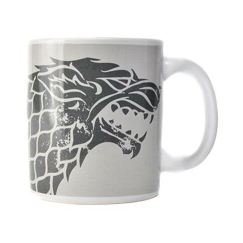 CurePink Keramický hrnek Game of Thrones/Hra o Trůny: Stark 50 ml bílý