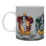 Hrnek Harry Potter - znaky bradavických kolejí (bílý)