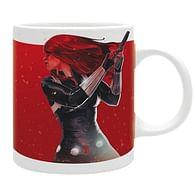 Hrnek Marvel - Black Widow of fire