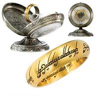 Jeden prsten - pozlacený