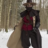 Kabát Hellsing, tmavě hnědý