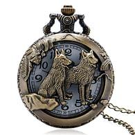 Kapesní hodinky - Vlci