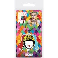 Klíčenka Birds of Prey - Harley Quinn Caution