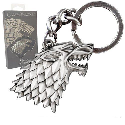 Noble Collection Klíčenka Game of Thrones - Stark - velká