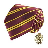 Kravata Harry Potter s odznakem - Nebelvír
