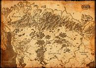 Mapa ke hře Dračí hlídka