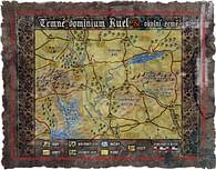 Mapa Temného dominia Ruel a okolních zemí