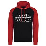 Mikina Star Wars - Retro logo, černo-červená