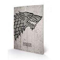 Nástěnný dřevěný obraz Games of Thrones - Stark