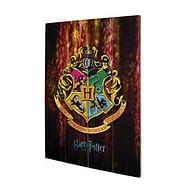 Nástěnný dřevěný obraz Harry Potter - Bradavický erb