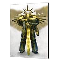 Dřevěný obraz Warhammer 40000 - Gulliman Ascend