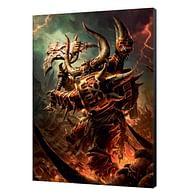 Dřevěný obraz Warhammer 40000 - Khorn Daemonkin