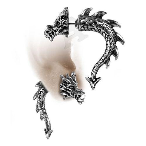 Alchemy Gothic Náušnice Drak - menší E324