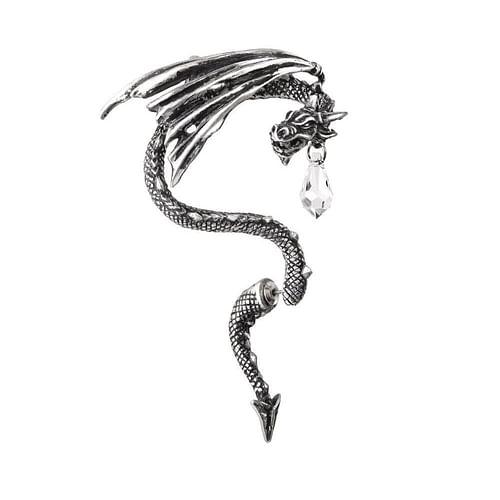 Alchemy Gothic Náušnice Křišťálový drak E330