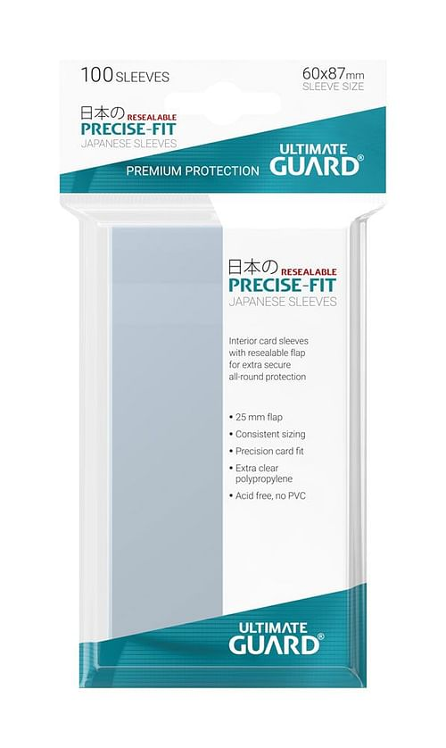 Obaly na karty 60 x 87 mm - (Ultimate Guard Precise-Fit Resealable)