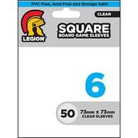 Obaly na karty Legion - Standard Sleeves: Square (50 ks), průhledné