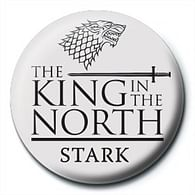 Placka Game of Thrones - King in the North