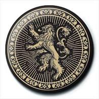 Placka Game of Thrones - Lannister Sigil