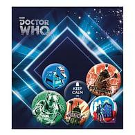 Placky Doctor Who Retro - 6 ks